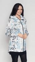 Womens Turquoise Flower Lightweight Travel Jacket db3127